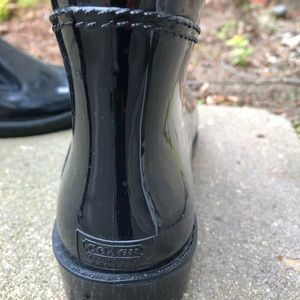 Coach Black Rainboots size 8